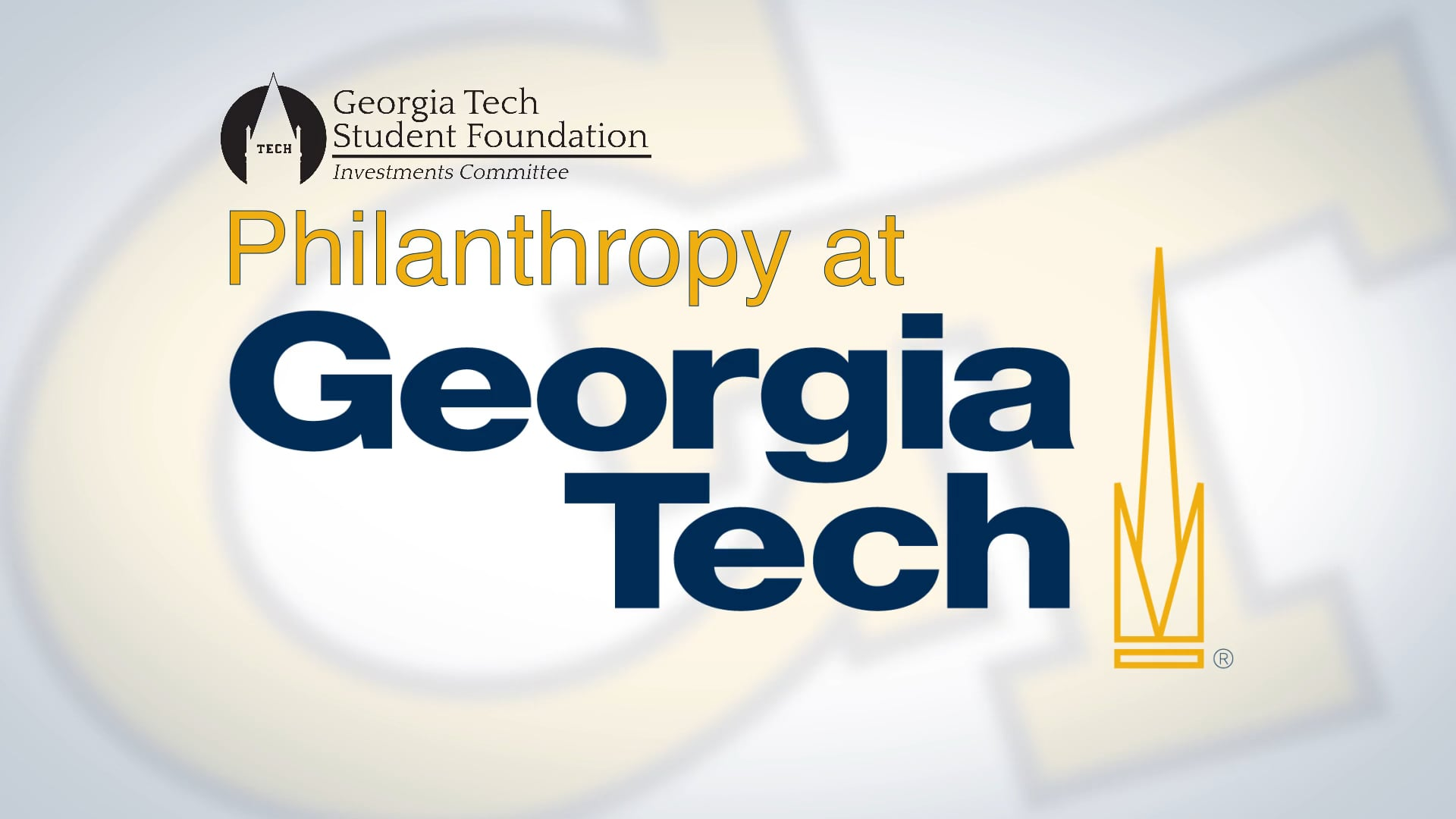 GA Tech: Philanthropy at Tech (2015)  Lensed and edited by DoubleRaven.