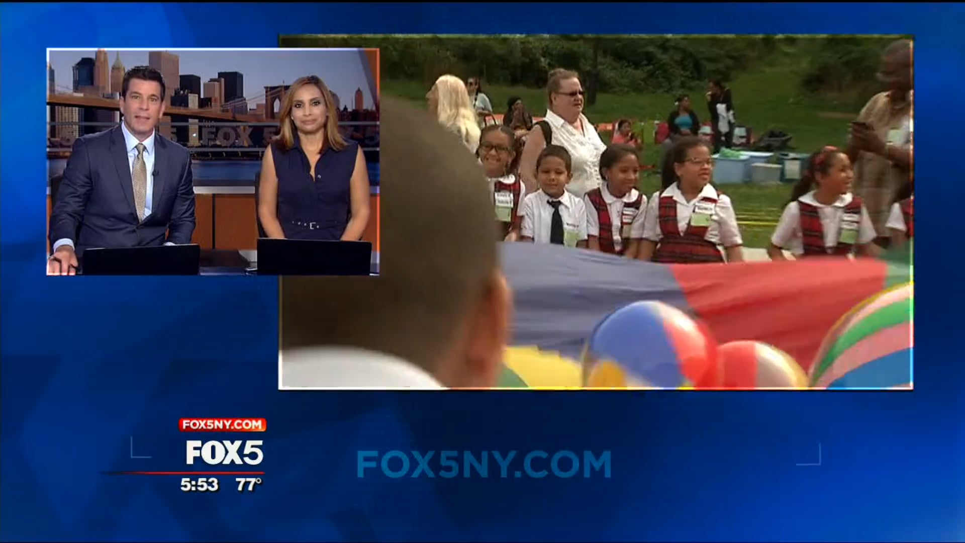 WNYW-TV News report on Francis in the Schools event in New York City