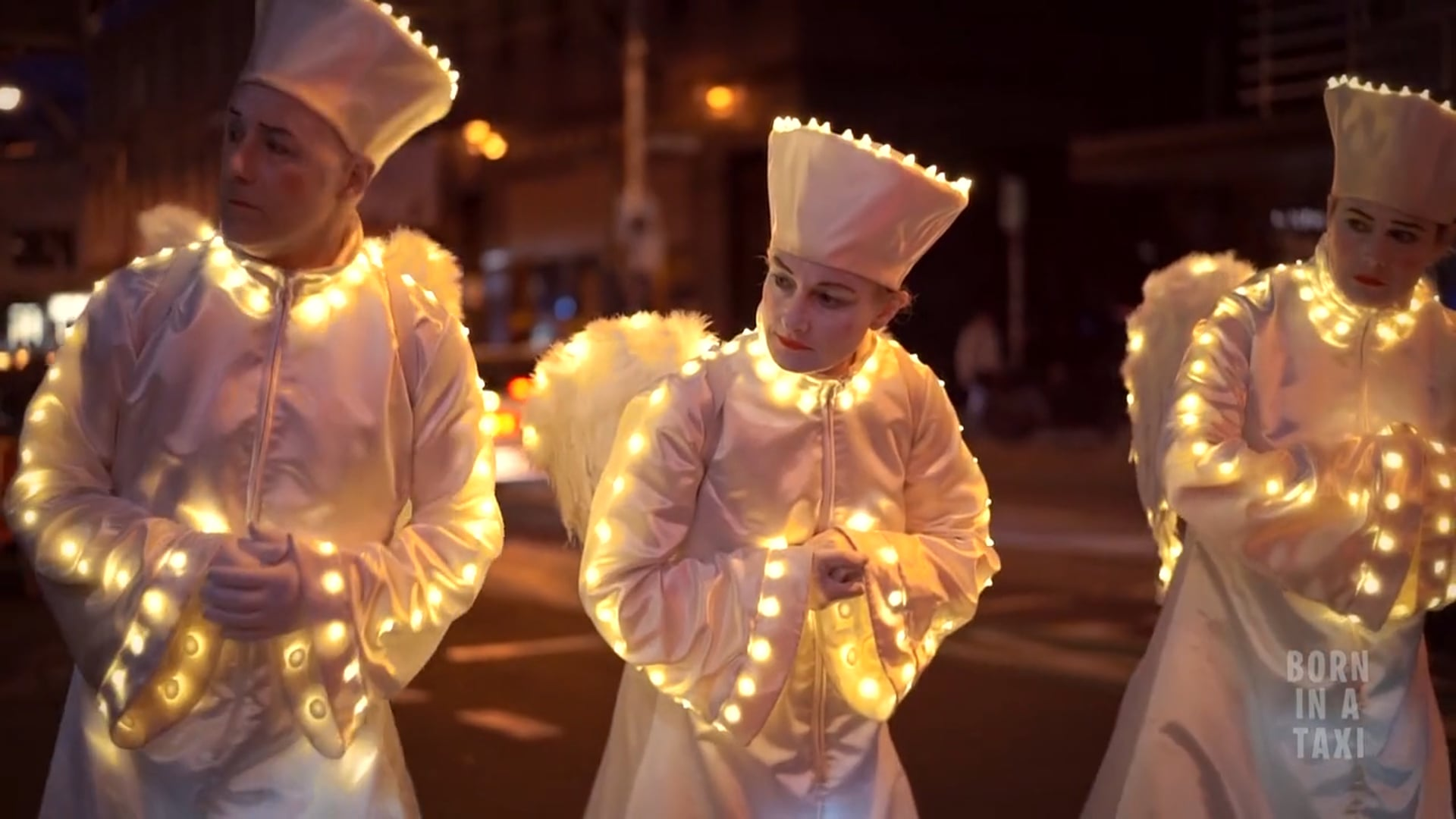 Born in a Taxi - 'Illuminated Angels' roving act