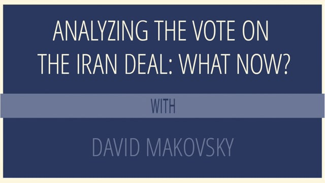 Analyzing the Vote on the Iran Deal: What Now?