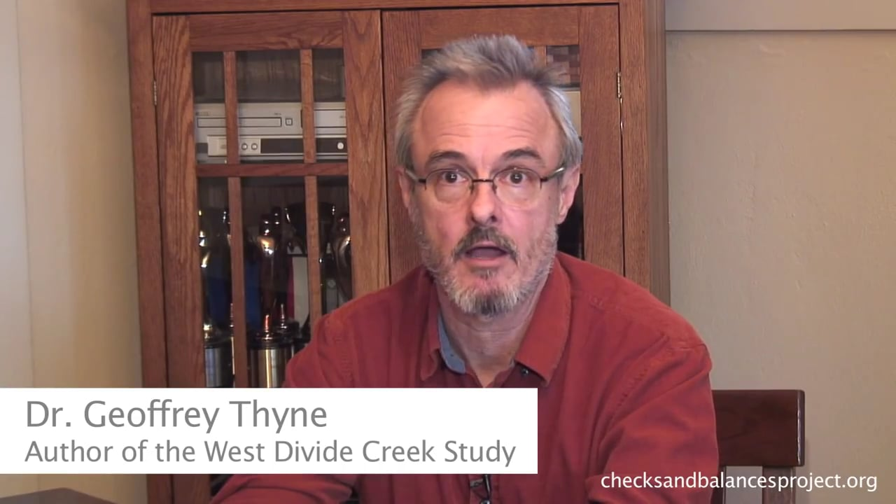 Dr. Thyne on surface contamination from fracking