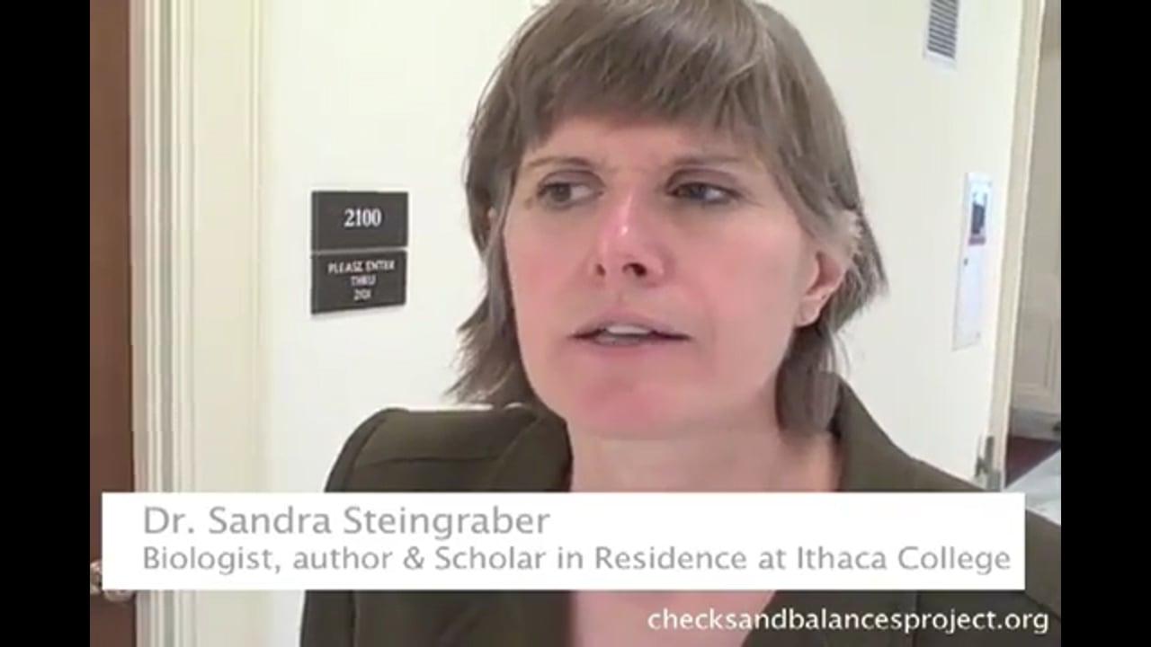 Steingraber on fracking health risks