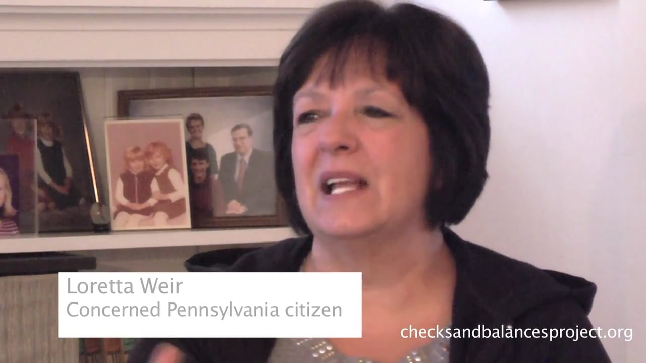 Loretta Weir reacts to gas industry calling citizens insurgents
