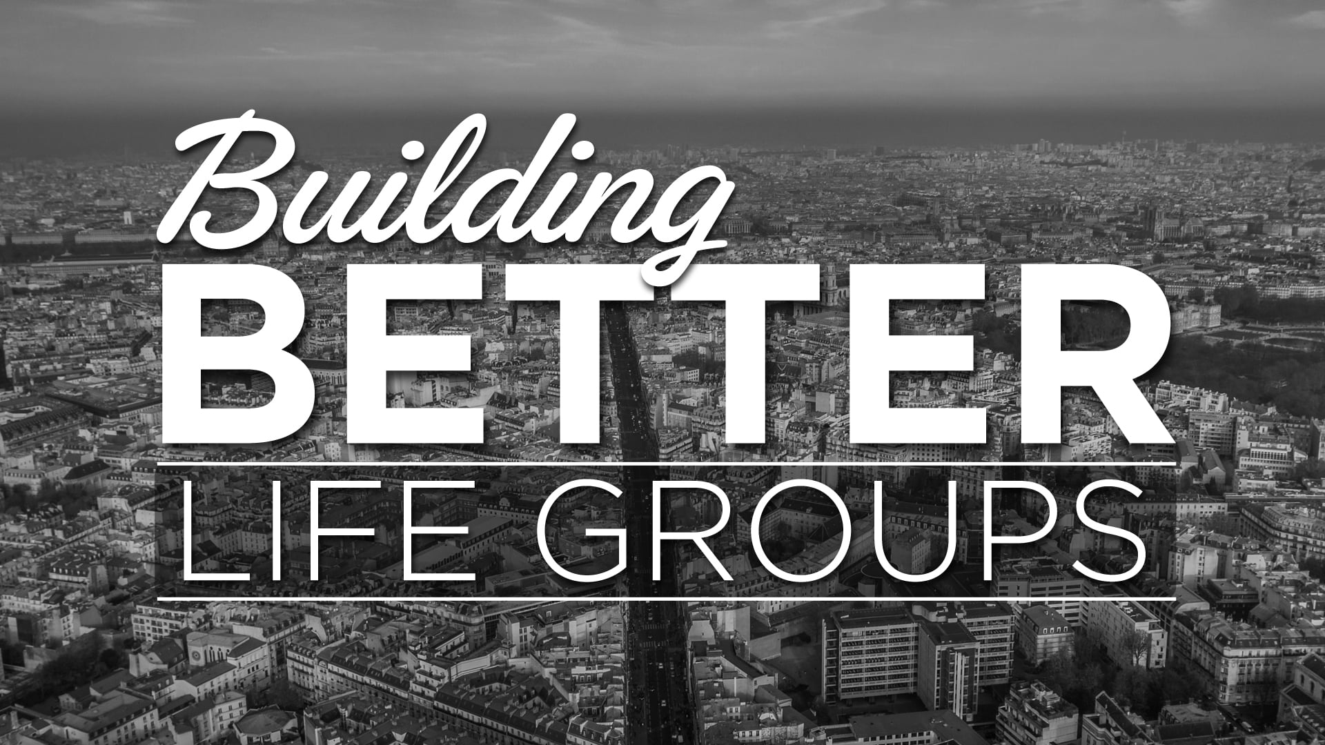 Life groups [1] - What's the Big Deal?