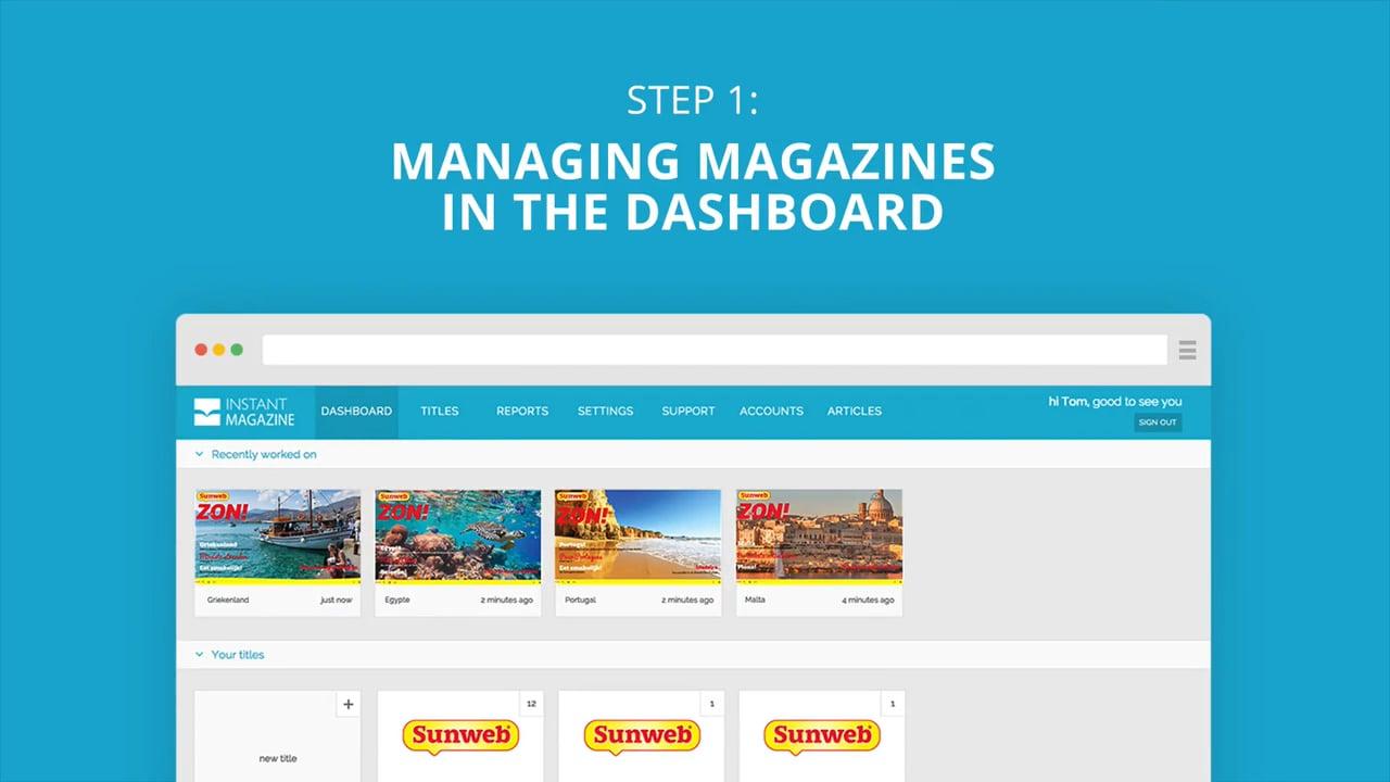 Instant Magazine - step 1