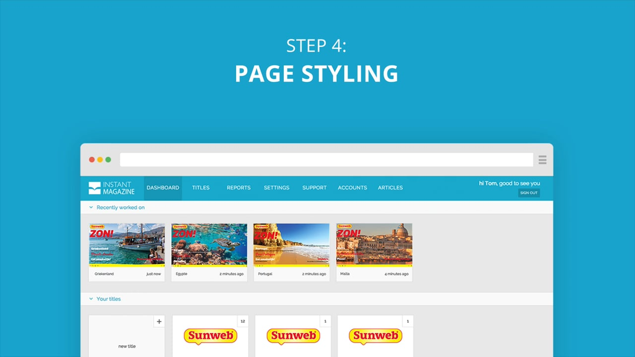 Instant Magazine - step 4