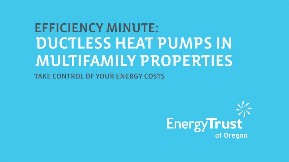 Thumbnail of video for Efficiency Minute: Ductless Heat Pumps