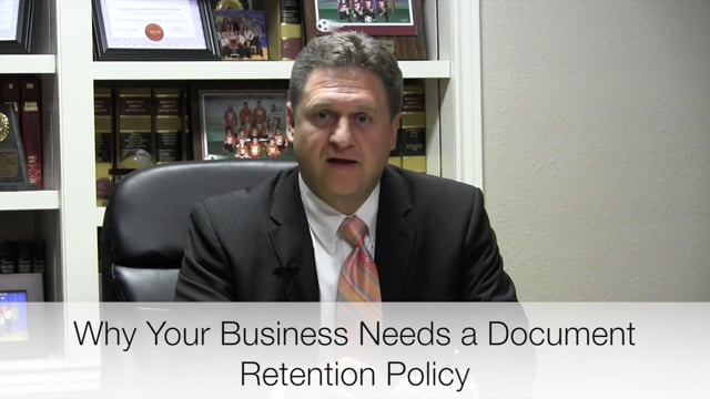 Business Document Retention Policy - Attorneys Richmond Wharton El Campo