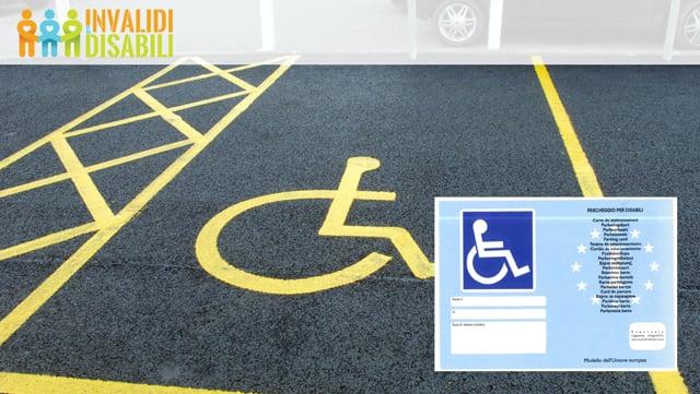 Contrassegno invalidi per il parcheggio invalidi. VIDEO