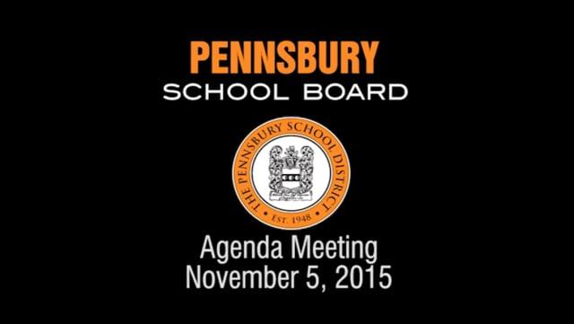 Pennsbury School Board Meeting for November 5, 2015
