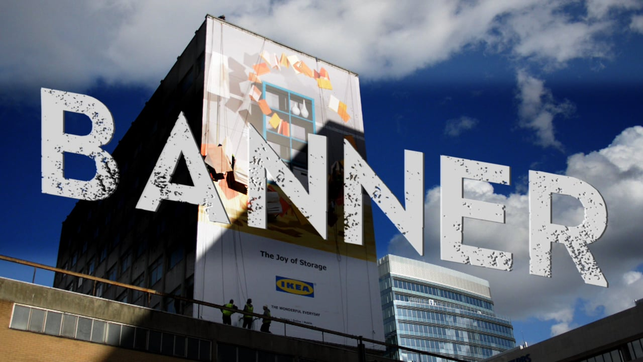 IKEA Banner goes up at City Gateway in London