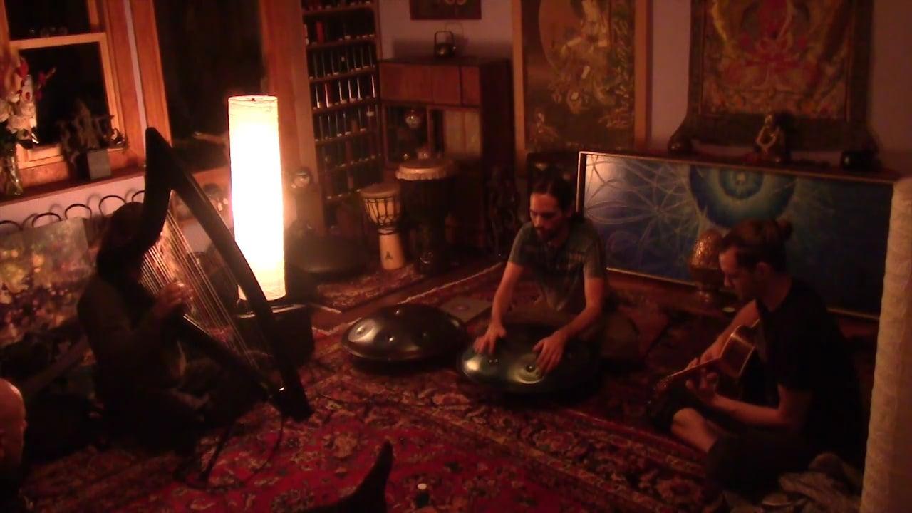 Handpan Harp & Guitar - Entering the Stream Musical Improv