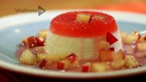 Waitrose: Plum and Coconut Panna Cottas