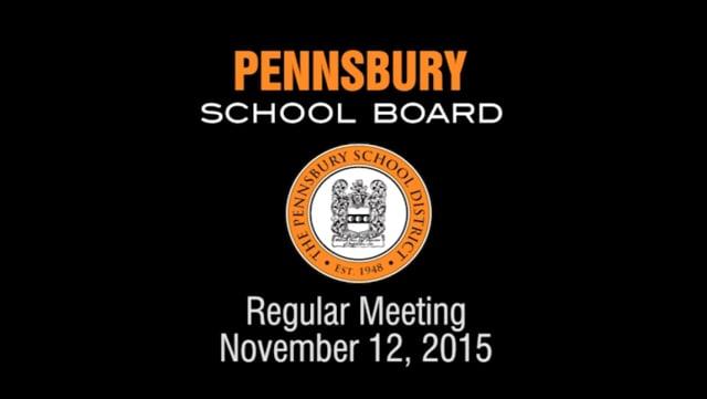Pennsbury School Board Meeting For November 12, 2015