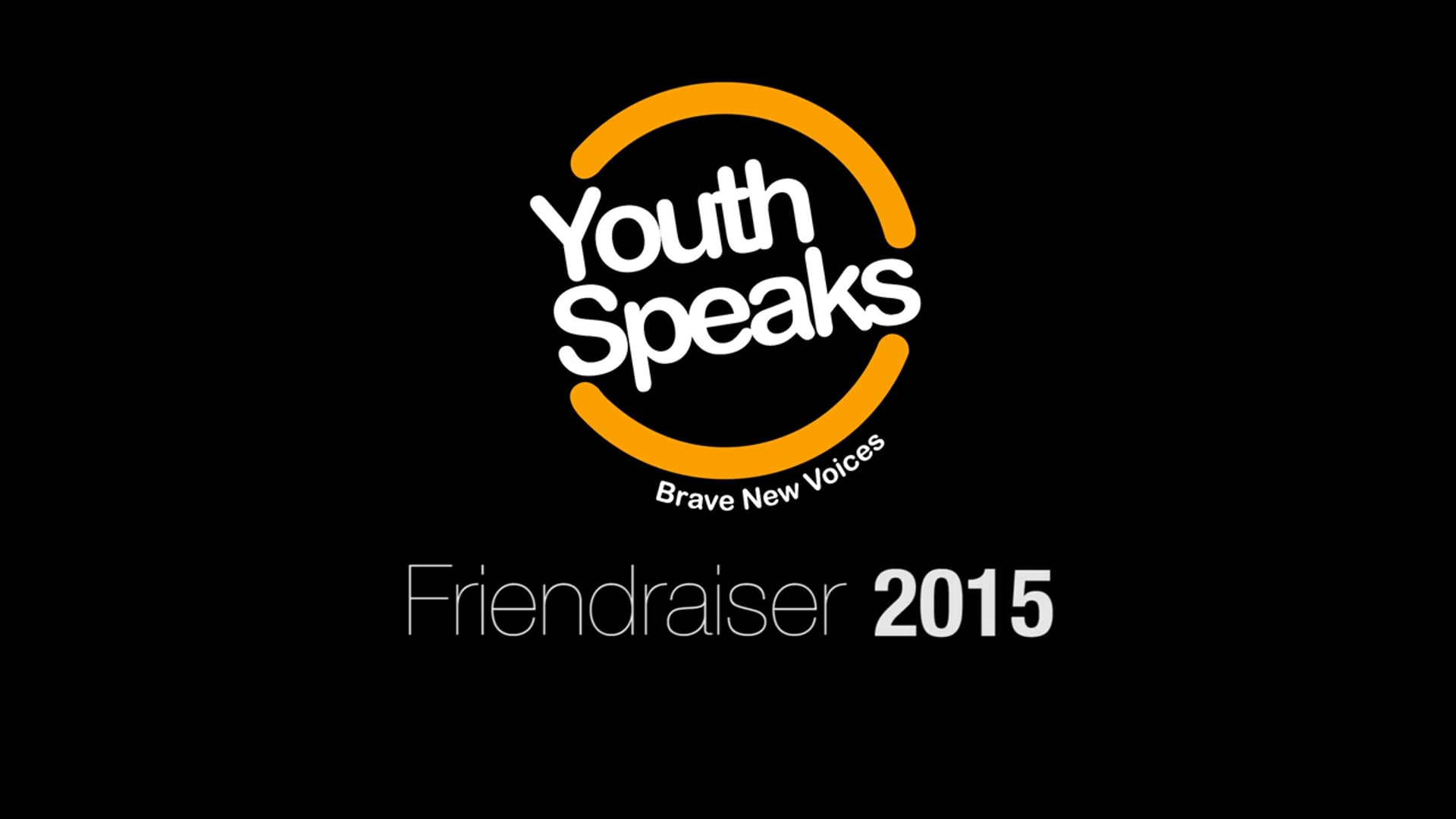 Youth Speaks Friendraiser 2015 Event