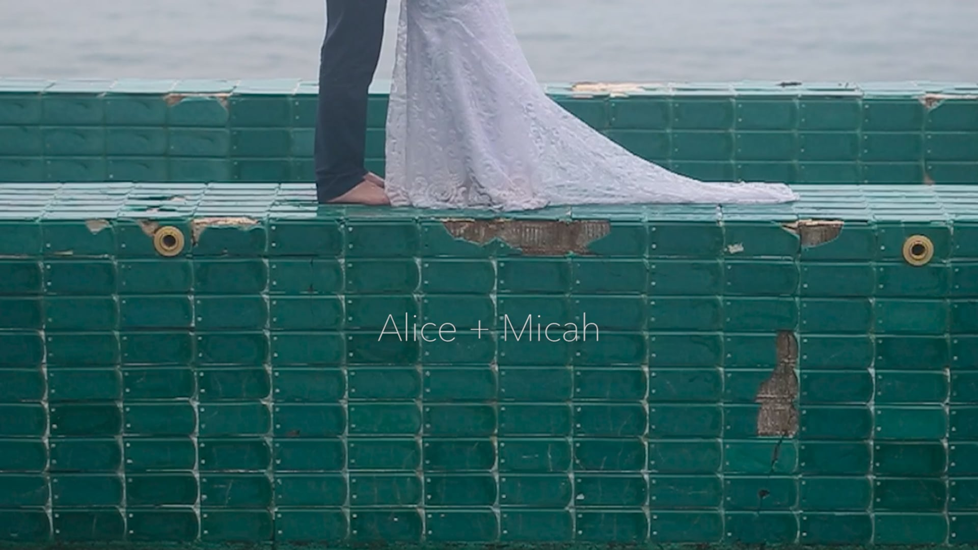 The couple and the sea... TTD Alice & Micah