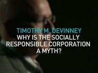 TIMOTHY M DEVINNEY   WHY IS THE SOCIALLY RESPONSIBLE CORPORATION A MYTH?