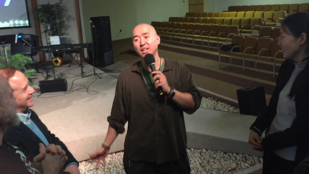 Hyung Jin Nim shares his testimony about Sunday Service experience on Dec. 13, 2015
