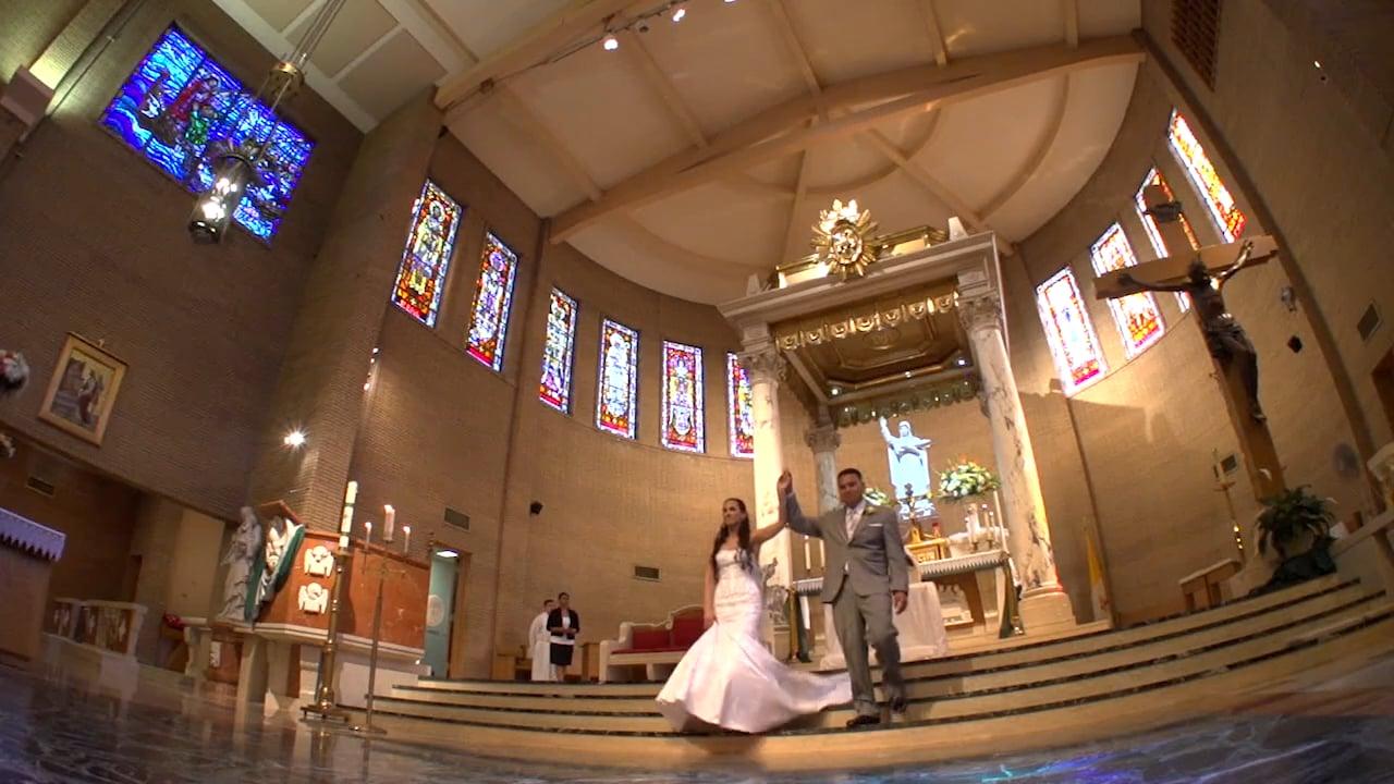 Jennifer + Richard's Wedding Celebration Mary Star of the Sea Church & The Reef