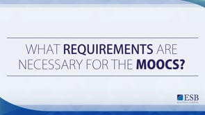 Requirements to create MOOCs