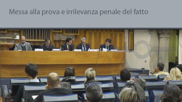 Messa alla prova e irrilevanza penale del fatto - 17/12/2015
