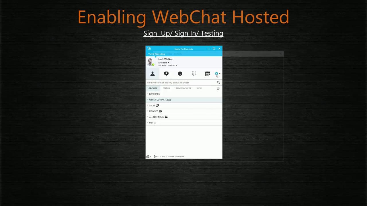 WebChat Hosted Signup