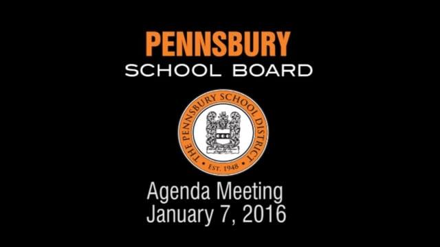 Pennsbury School Board Meeting for January 7, 2016