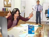 Neal Adams Continuity Studios - Alka Seltzer - Lady at Desk