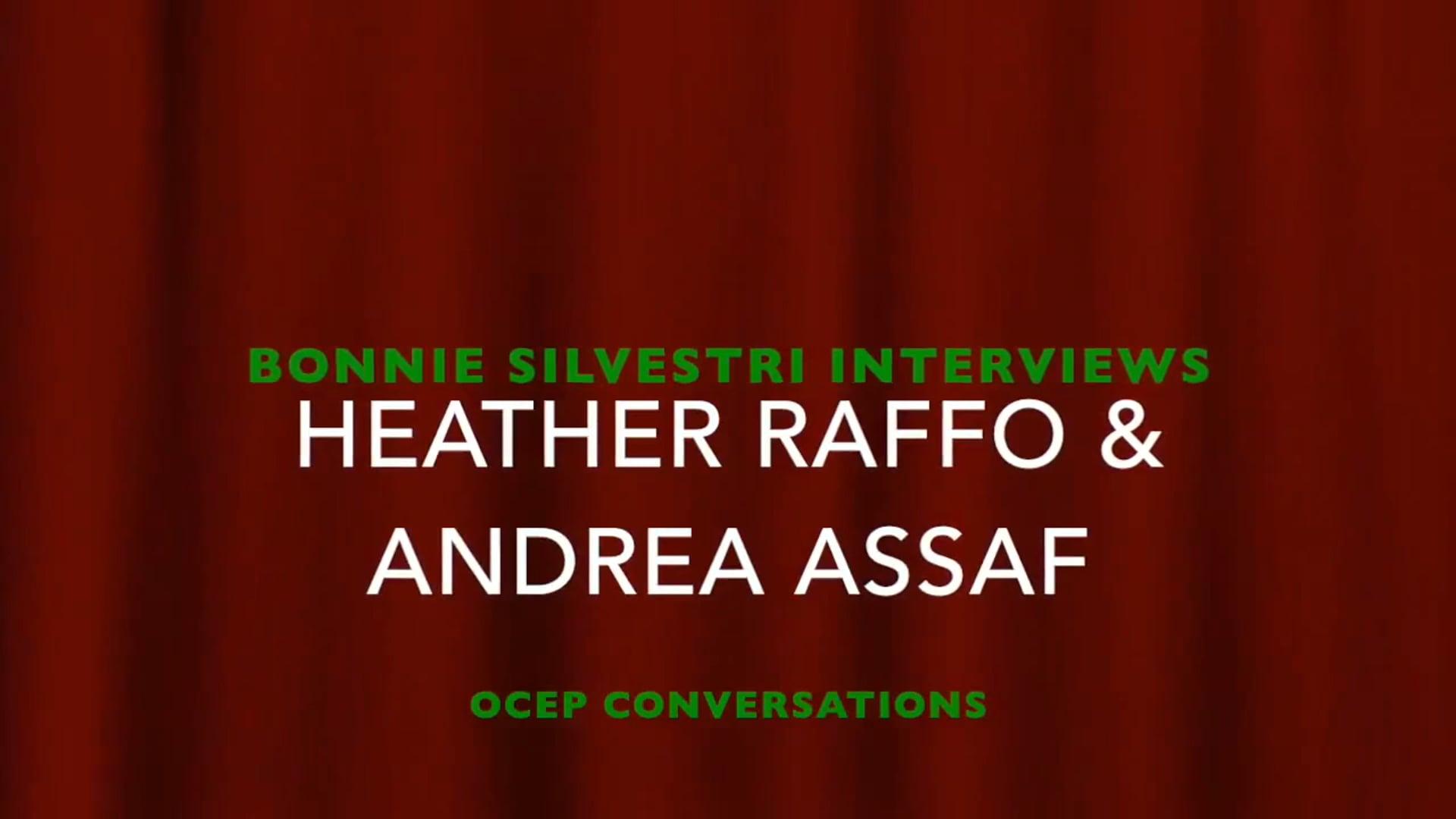 Interviews: Heather Raffo & Andrea Assaf (USF OCEP Conversation Series)
