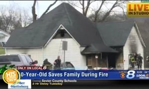 10 Year Old Saves Family From Fire