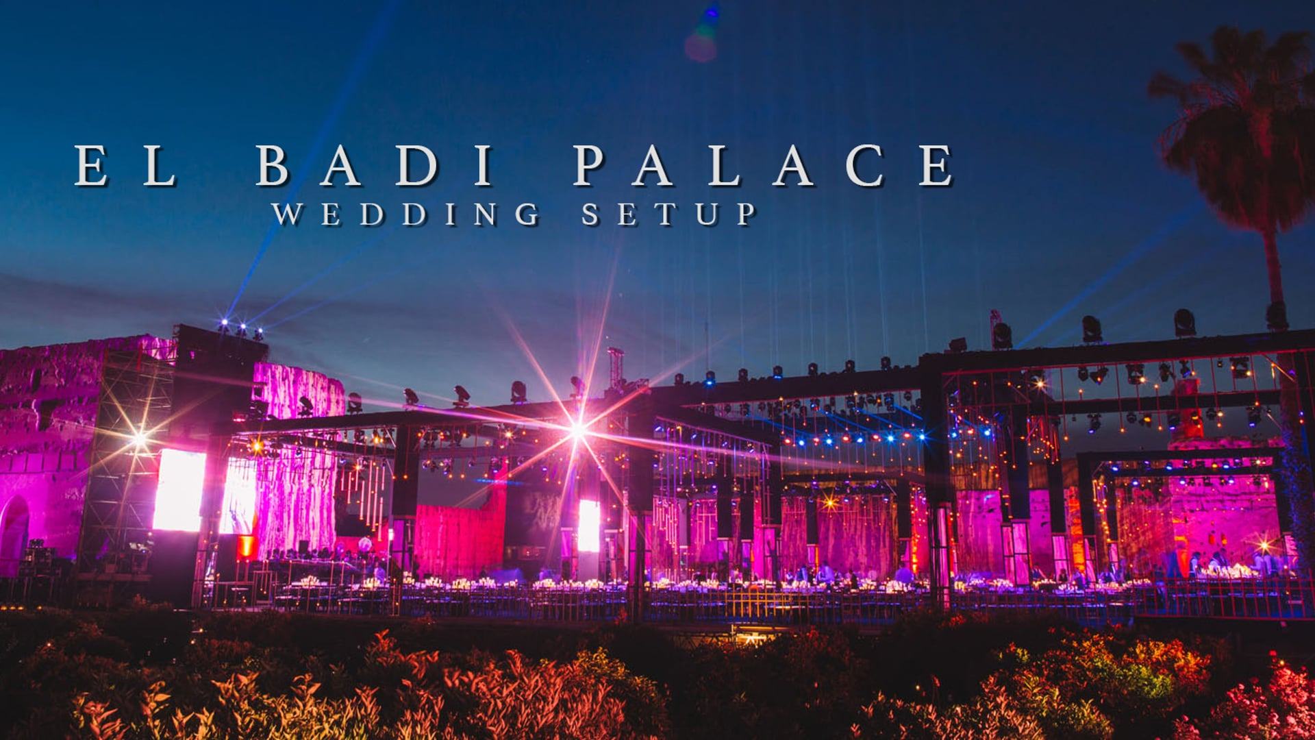 El Badi Palace / Marrakesh // Wedding Setup