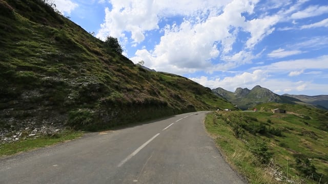 Virtual Cycle French Pyrenees with Famous Routes of the Tour de France with Alpine Nature Sounds