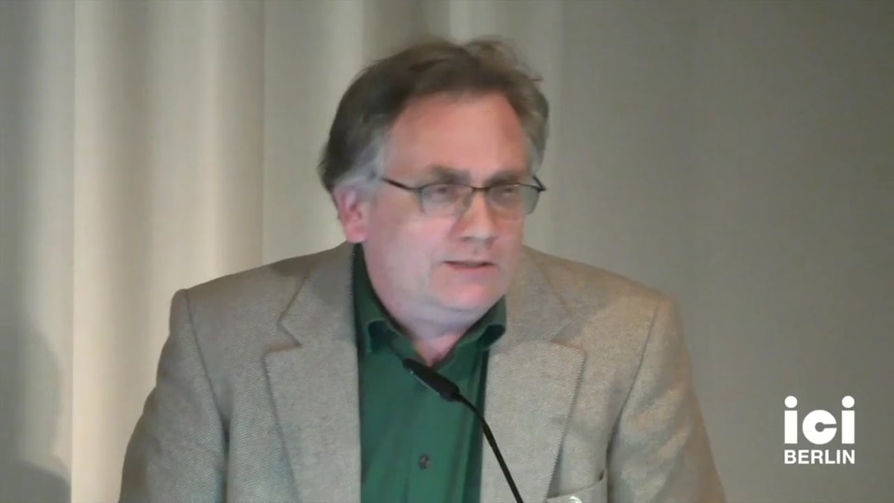 Talk by Hans Scheuer