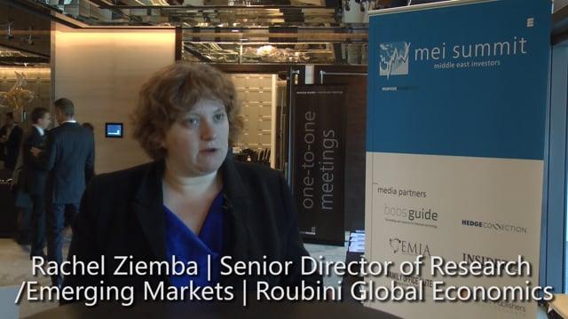 Middle East Investors Summit - Interview: Rachel Ziemba, Roubini Global Economics