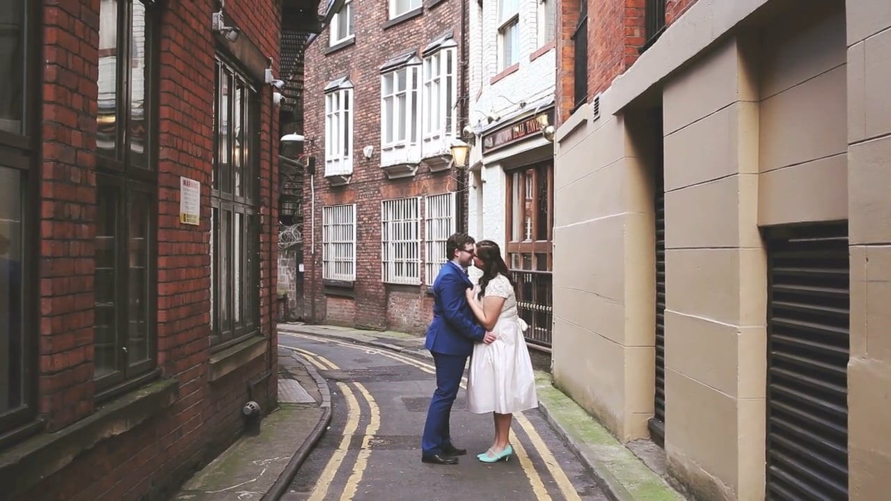 Lewis and Yasmine's Manchester elopement