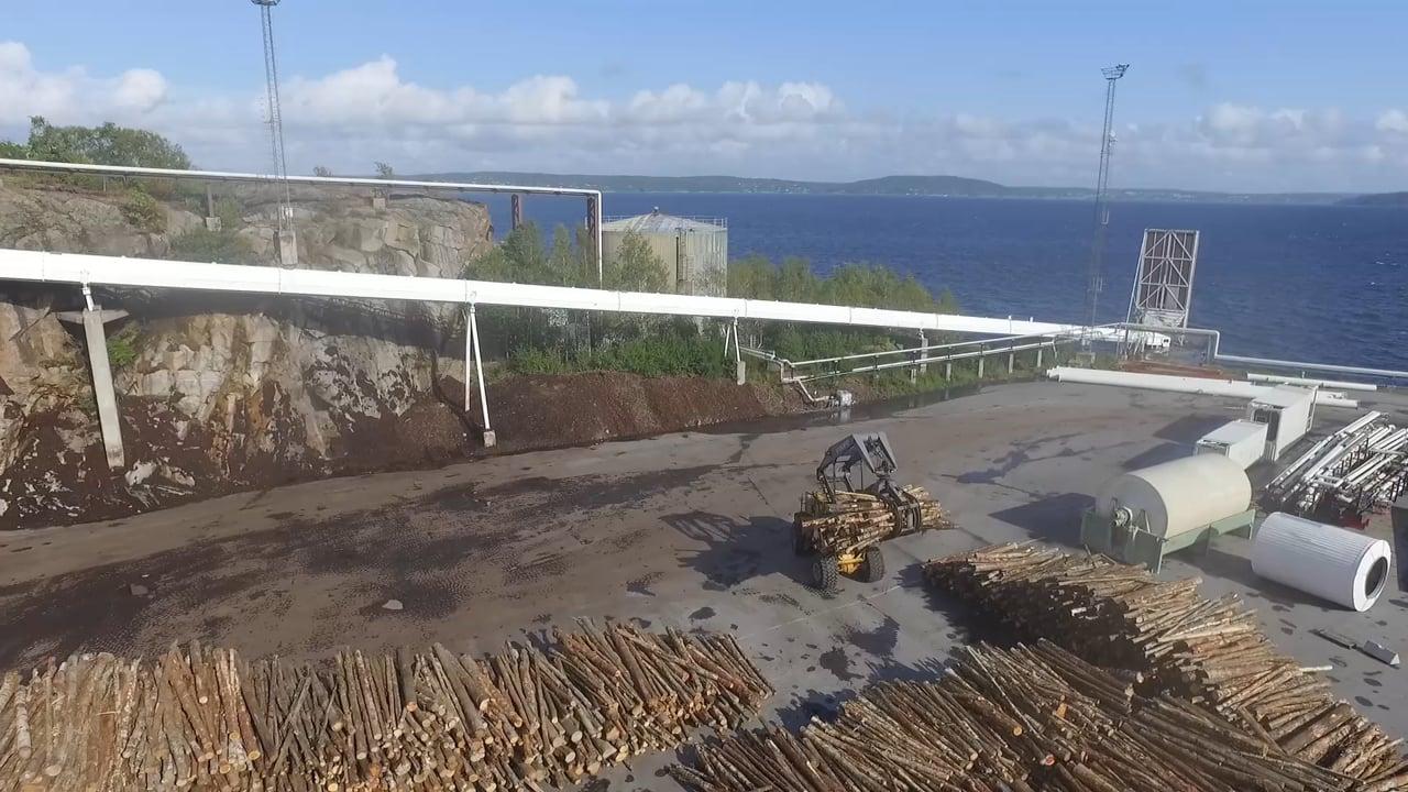 Statkraft woodchipping in Norway