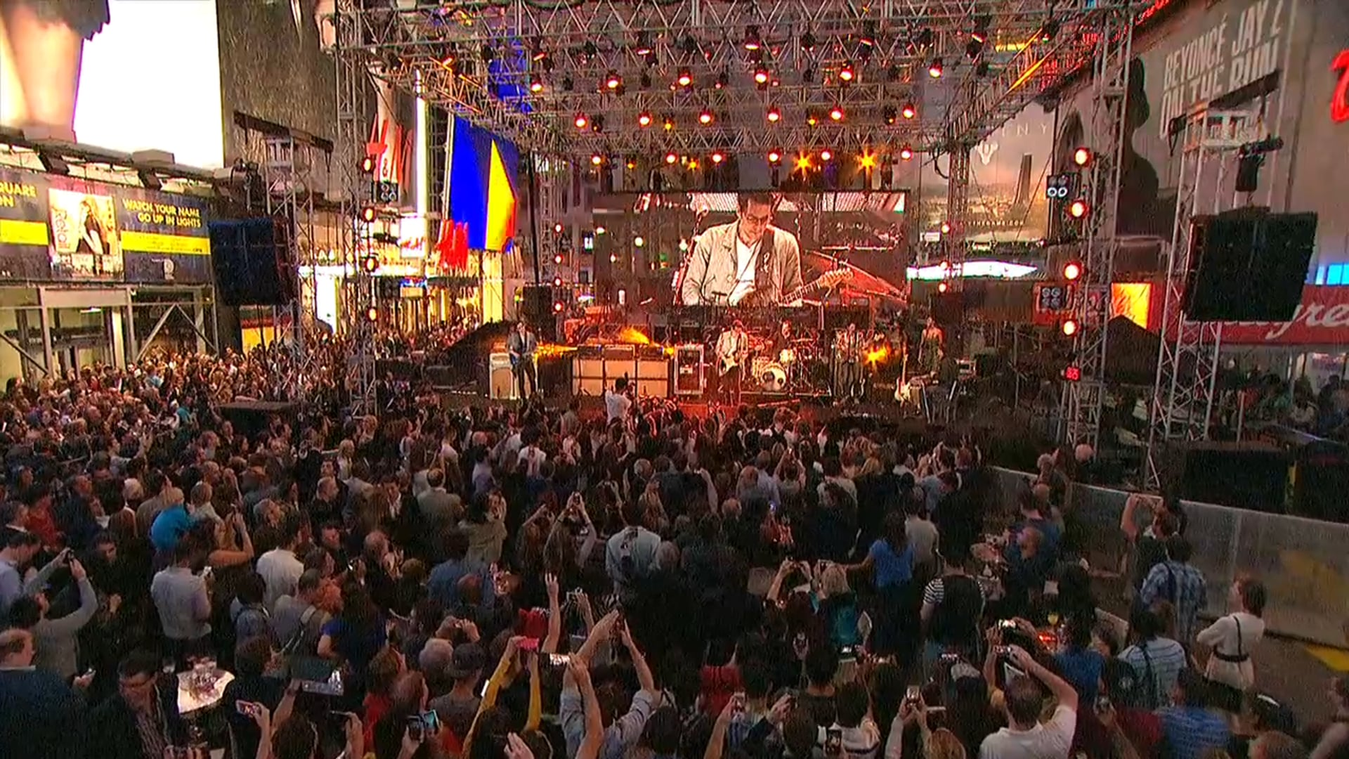 The Rock N Rio Times Square Popup concert featuring John Mayer