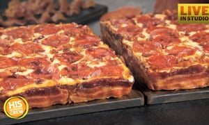 Bacon Wrapped Pizza is Back