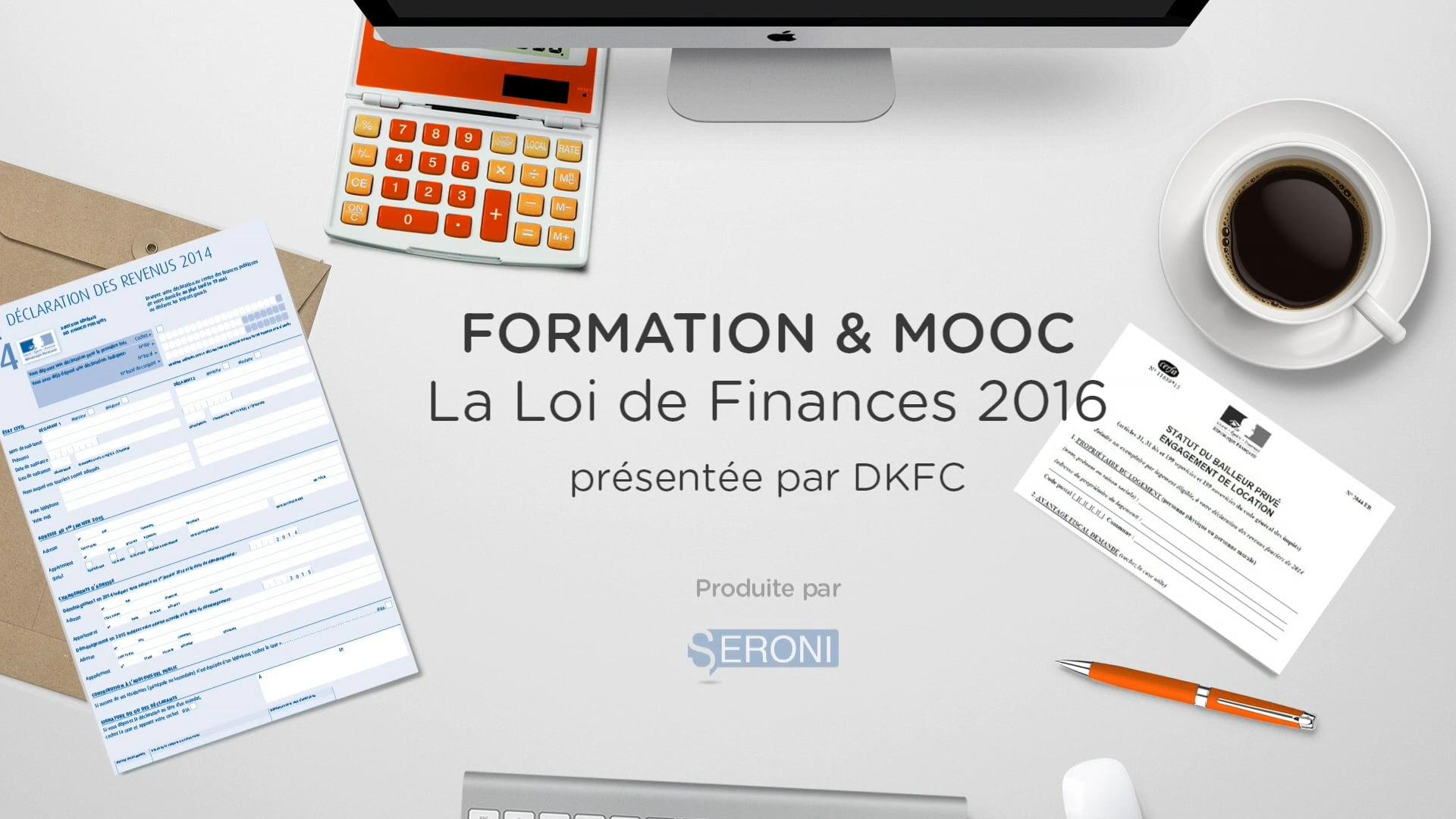 LOI DE FINANCES 2016 & TEASER