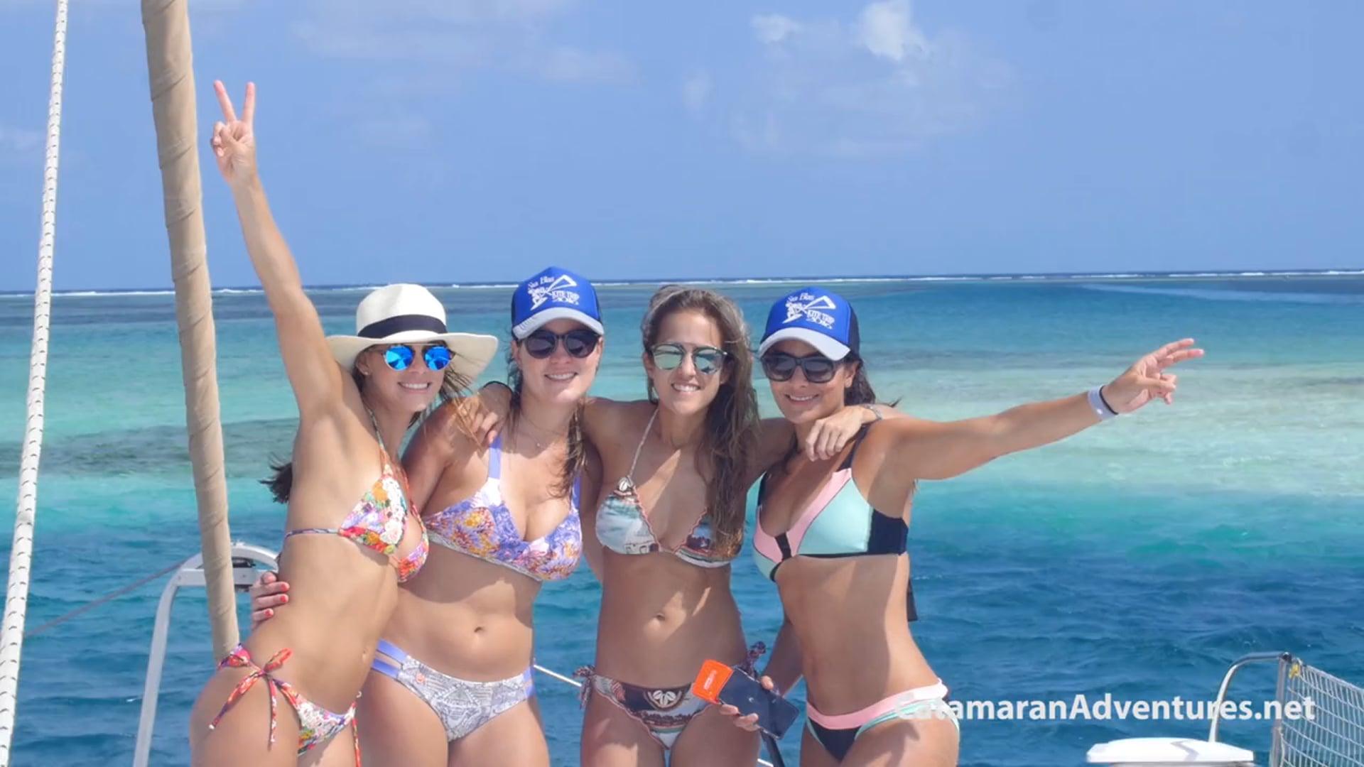 Catamaran for rent in Paradise, kitesurfing San Blas, the Caribbean side of Panama.
