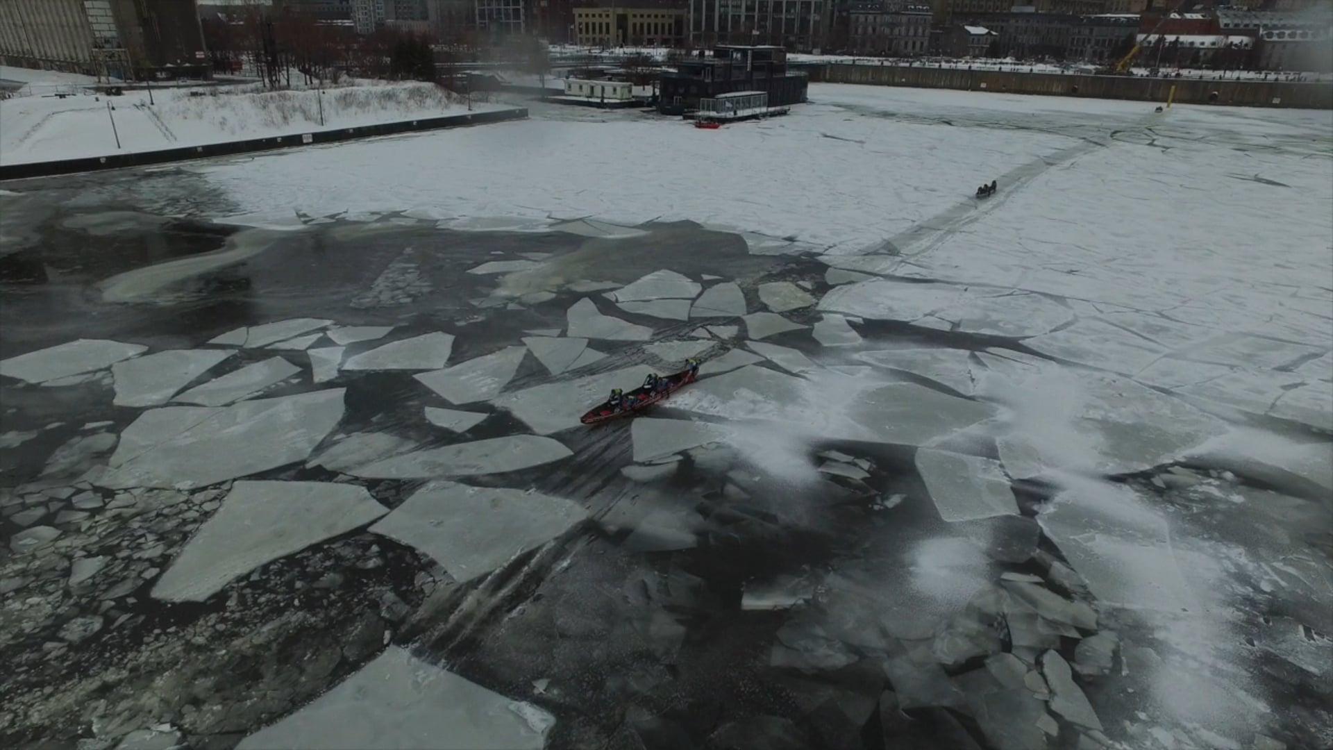 Défi canot à glace Montréal 2016
