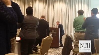 Sen. Johnny Isakson addresses Newnan-Coweta Board of Realtors on tough issues
