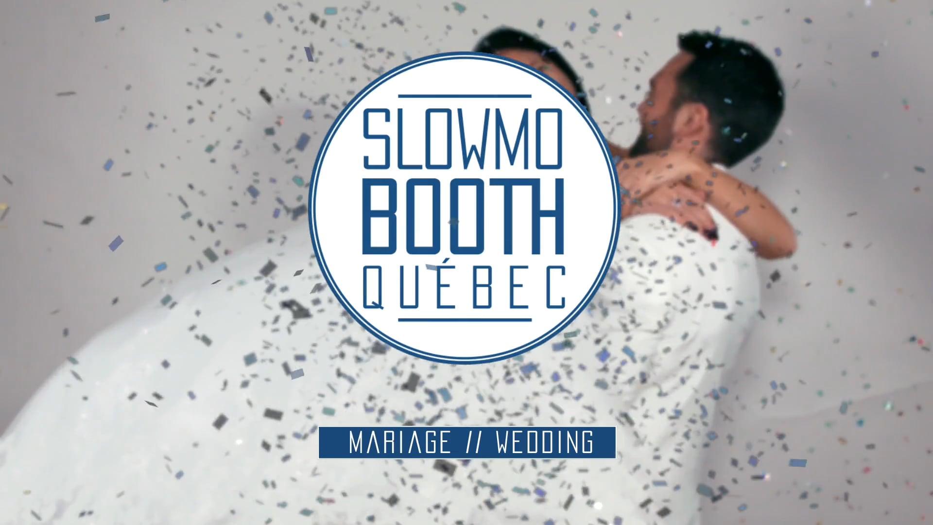 Slowmo booth Québec Mariage // wedding