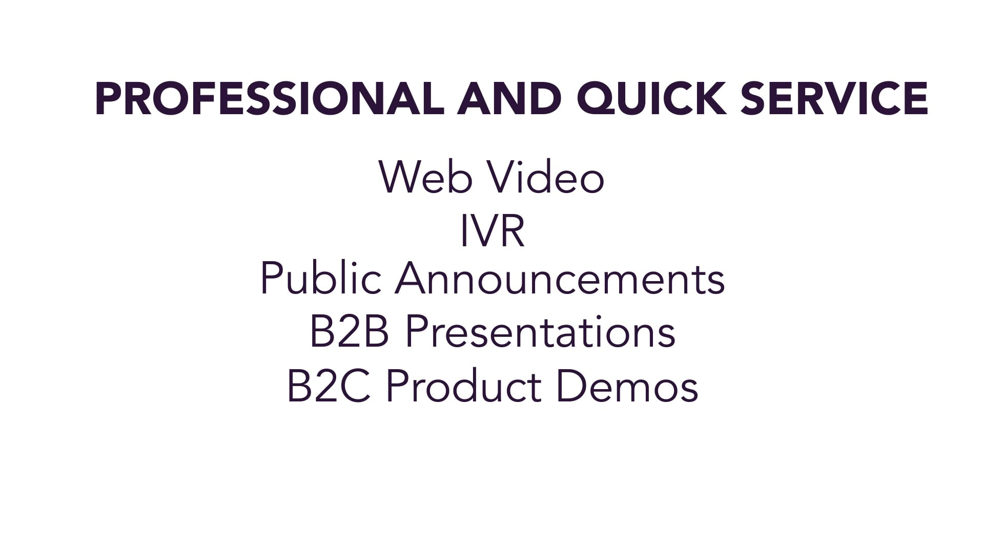 S2Blue Voices Showcase - Corporate