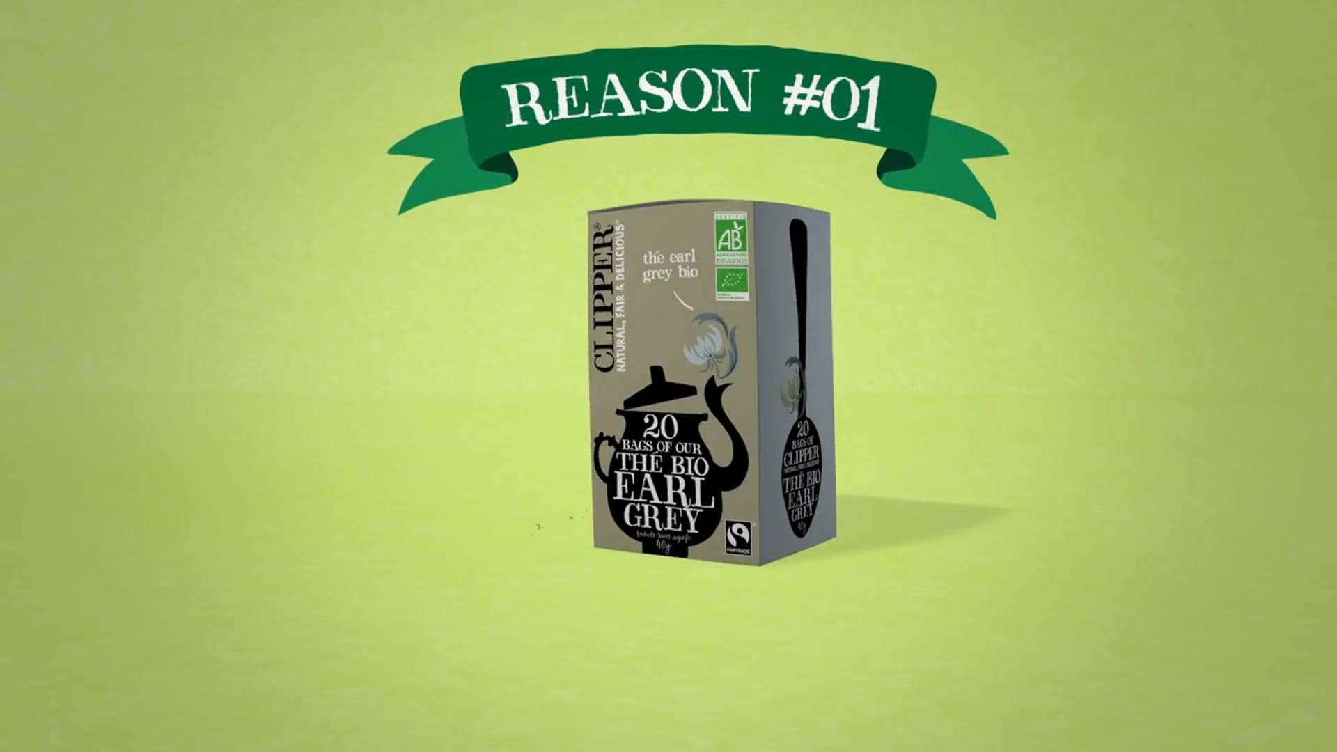 Clipper Tea 'reasons'