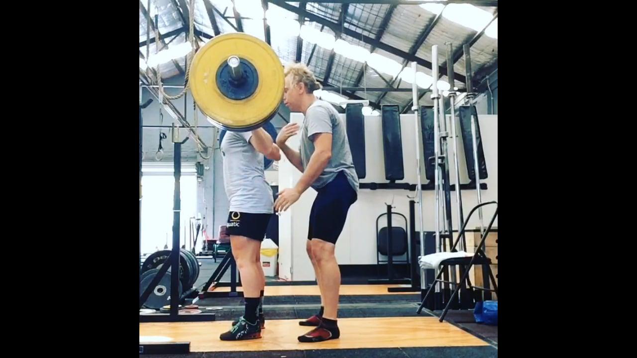 Squat 134 kg @ 62.2kg Lizanne