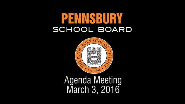 Pennsbury School Board Meeting for March 3, 2016