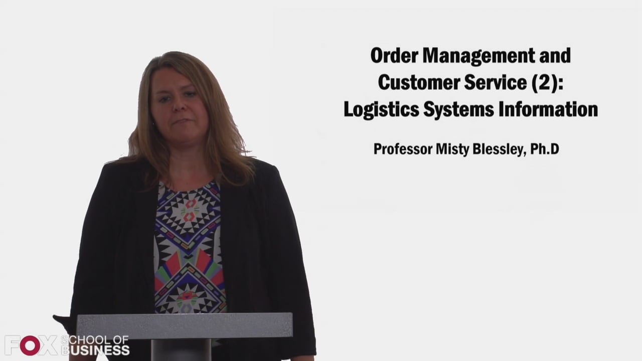58324Order Management and Customer Service Part 2