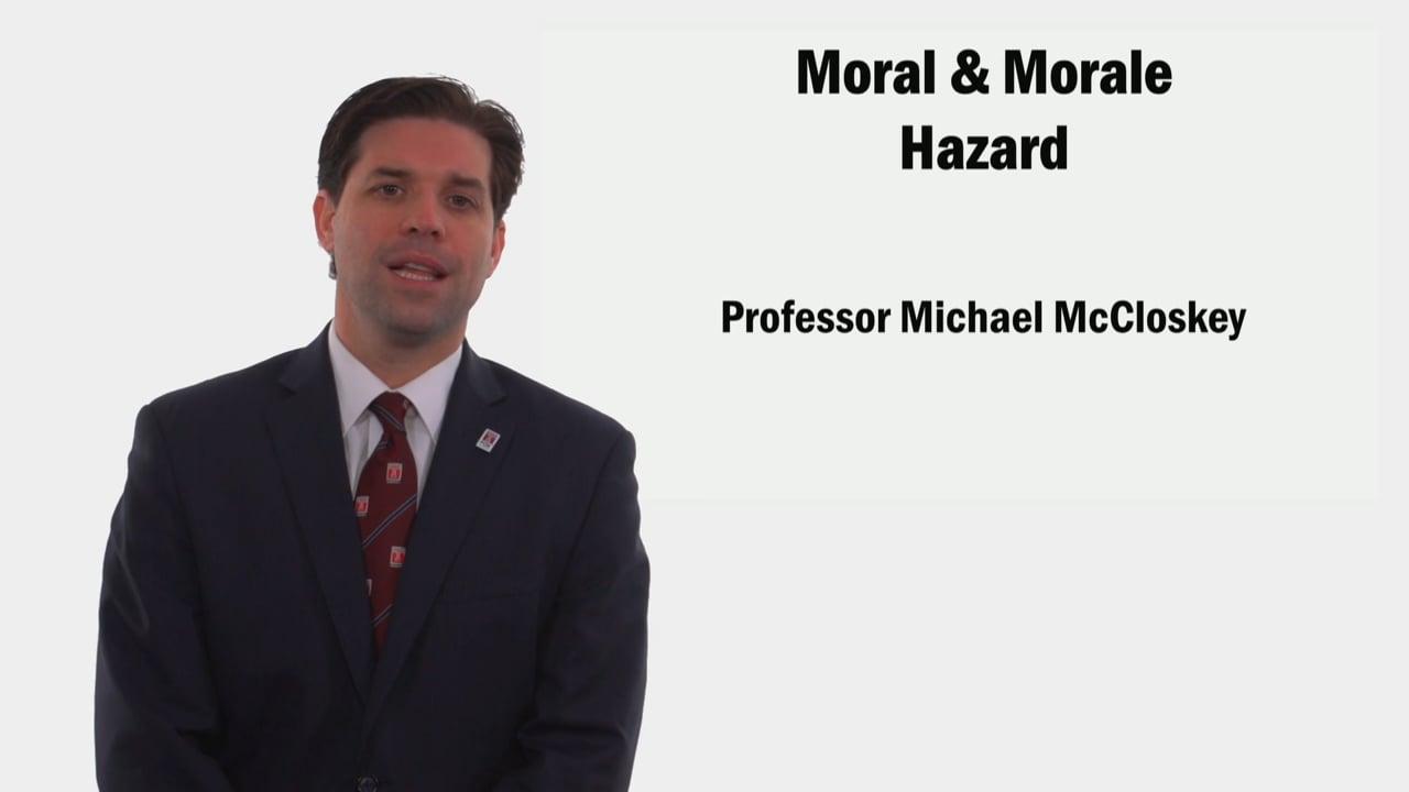 58934Moral & Morale Hazard