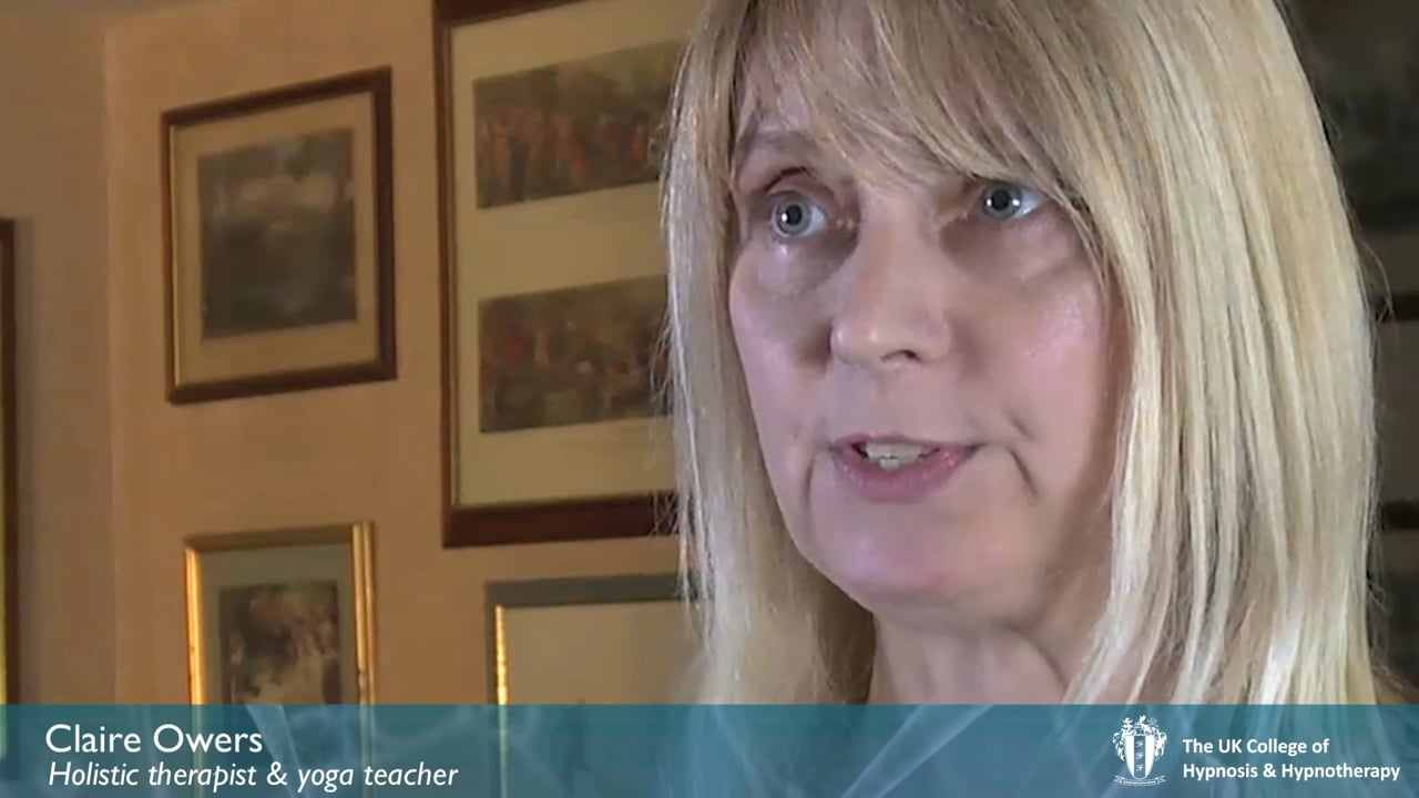 Student Interview - Claire Owers - Cognitive Behavioural Hypnotherapy Diploma Training Course